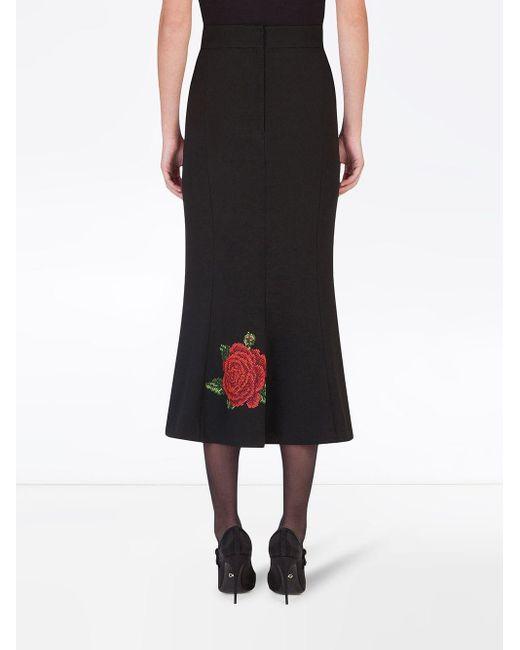 Юбка А-силуэта Dolce & Gabbana, цвет: Black