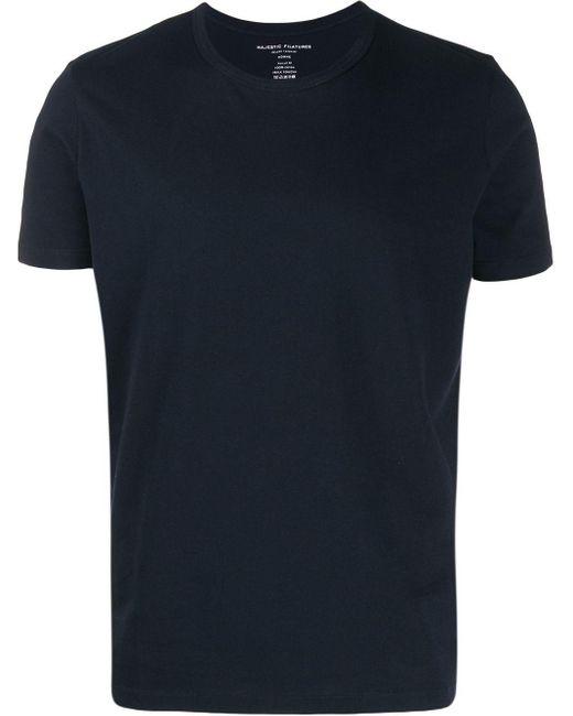 メンズ Majestic Filatures ラウンドネック Tシャツ Blue