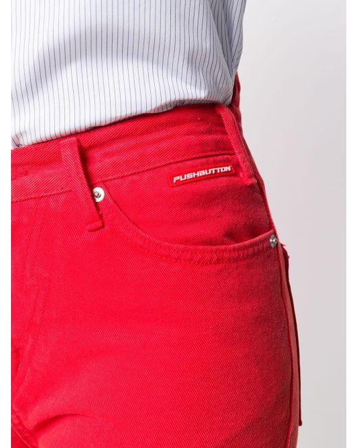 Pushbutton デニムショートパンツ Red