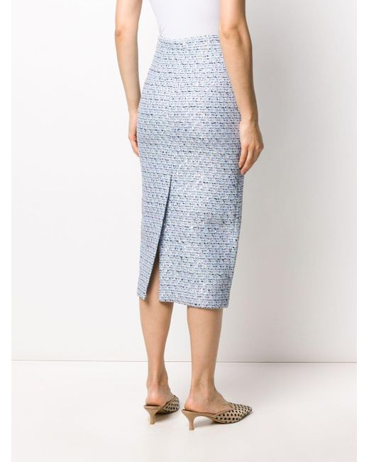 Alessandra Rich ツイード スカート Blue