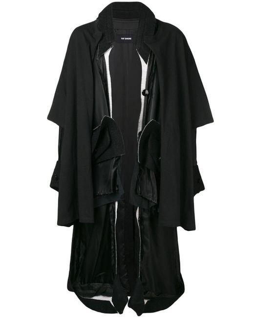 メンズ Raf Simons オーバーサイズ コート Black