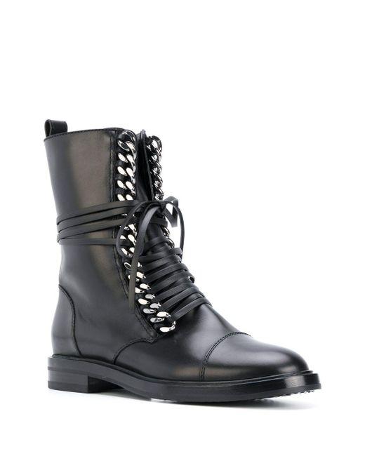 Casadei Black City Rock Ankle Boots