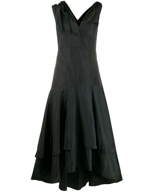 Pinko Robe volantée à détails noués femme de coloris noir 6D0wi