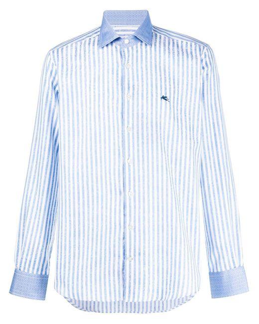 メンズ Etro ストライプシャツ Blue