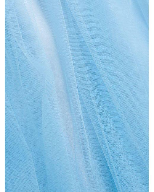 Delpozo チュール ミディスカート Blue