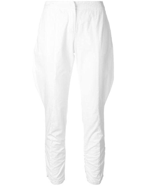 Giorgio Armani Pre-Owned クロップド パンツ White
