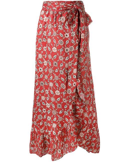 Étoile Isabel Marant Alda ラップスカート Red