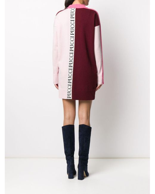 Emilio Pucci ロゴ ワンピース Red