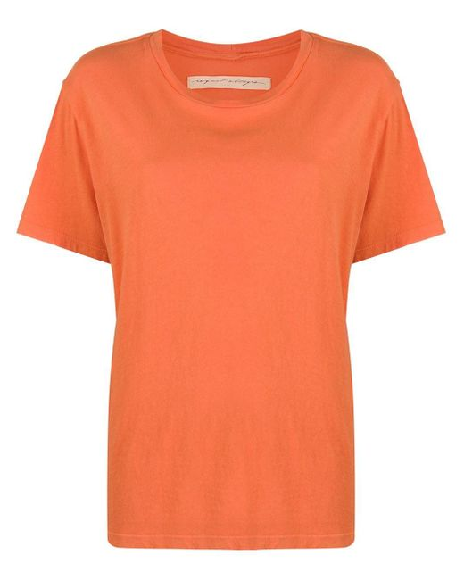 Raquel Allegra Orange T-Shirt mit lockerem Schnitt