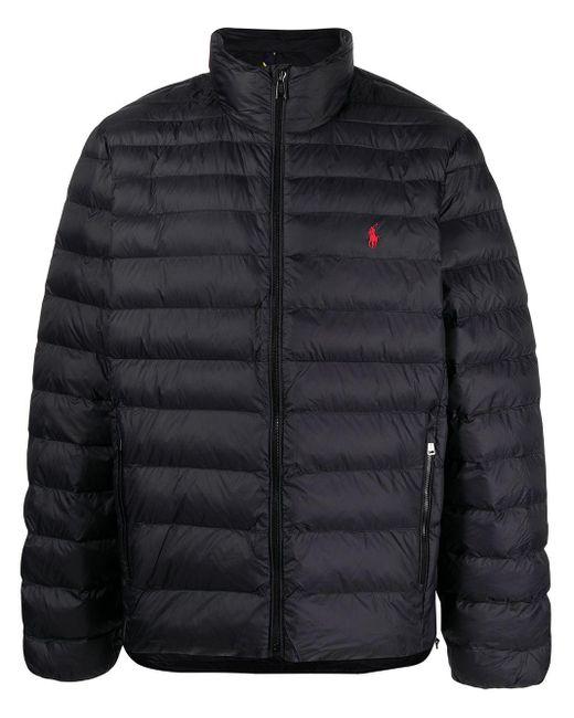 メンズ Polo Ralph Lauren ロゴ キルティングジャケット Black