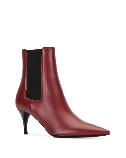 Saint Laurent レクシ 65 ブーツ Red