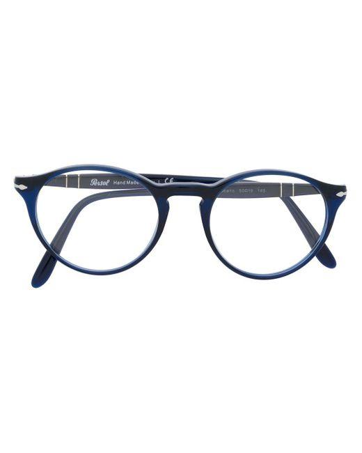 Persol ラウンド眼鏡フレーム Blue