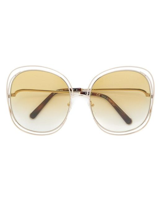 Chloé | Metallic Carlina Sunglasses | Lyst