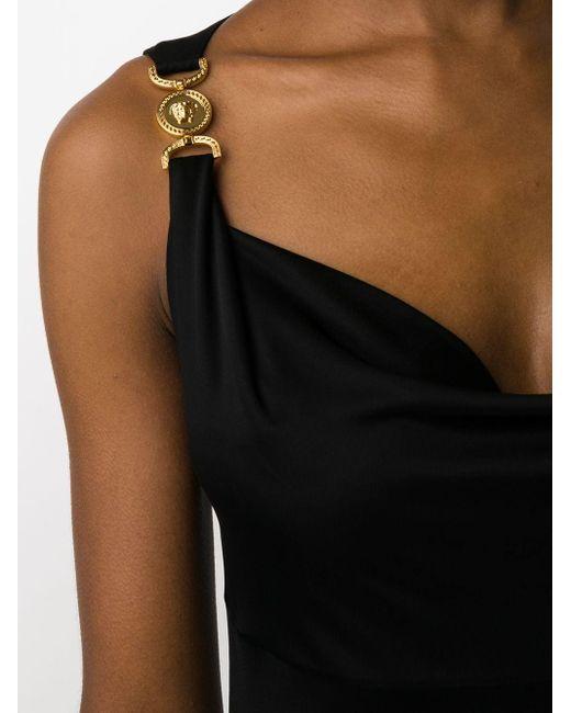 Versace メデューサ ミニドレス Black