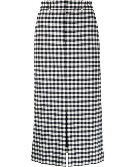 AMI フロントオープン スカート Black