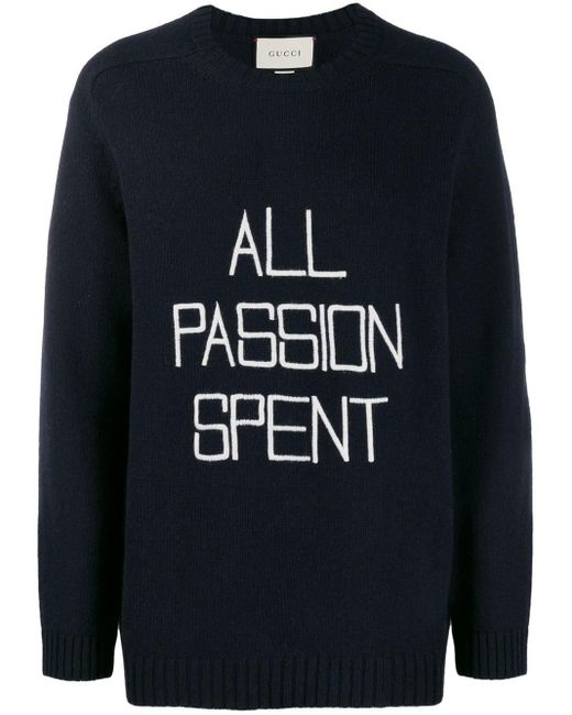 Gucci Blue All Passion Spent Sweater for men