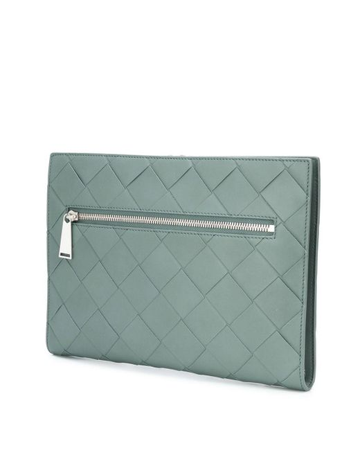 Клатч С Плетением Intrecciato Bottega Veneta для него, цвет: Gray
