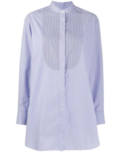 ROKH オーバーサイズ ストライプ シャツ Blue
