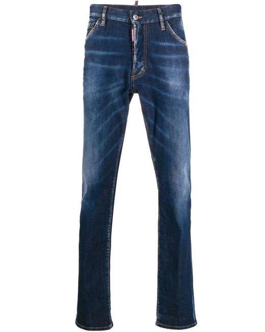 メンズ DSquared² ストレートジーンズ Blue