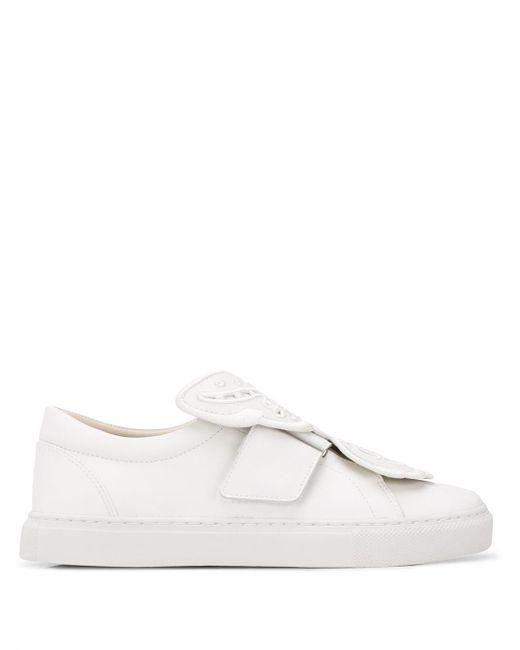 Sophia Webster White Sneakers mit Schmetterling