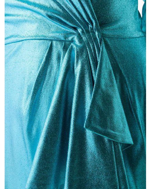 Elisabetta Franchi ラップ ミニドレス Blue