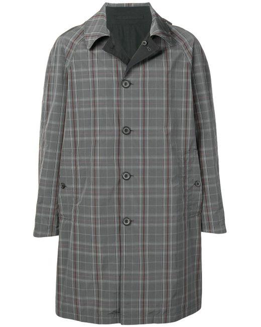メンズ Lanvin チェック シングルコート Gray