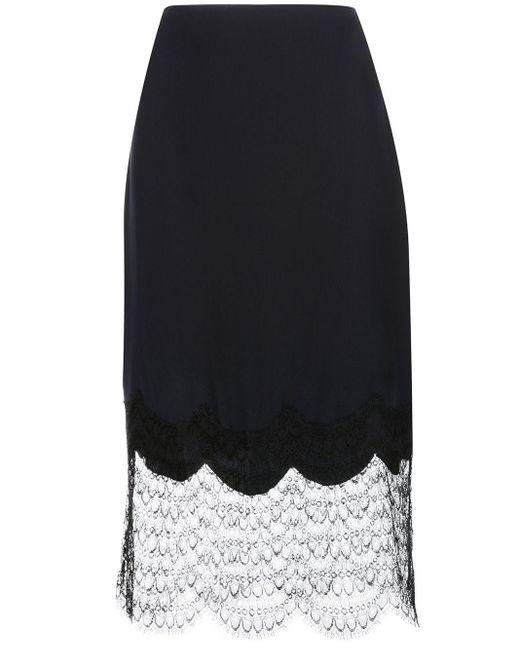 Kiki de Montparnasse Charmeuse シルクスカート Black