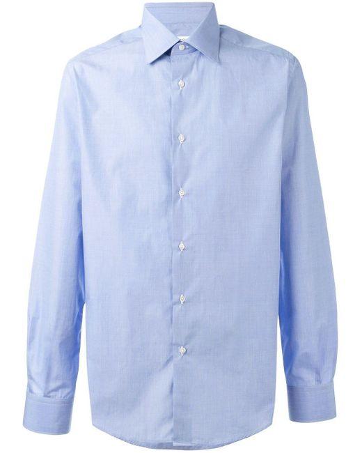 メンズ Fashion Clinic Timeless クラシック シャツ Blue