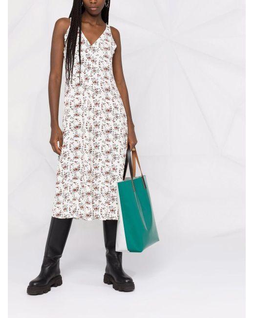Ganni フローラル ノースリーブ ドレス Multicolor