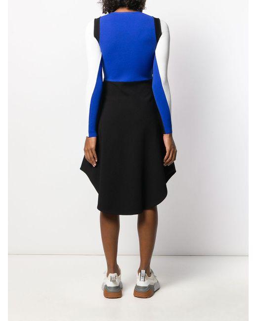 Stella McCartney カラーブロック ドレス Blue