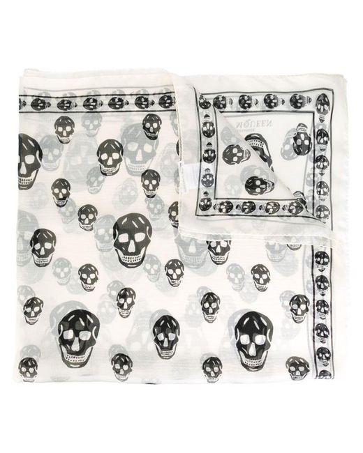 Alexander McQueen - Multicolor Fringed Skull Print Scarf - Lyst