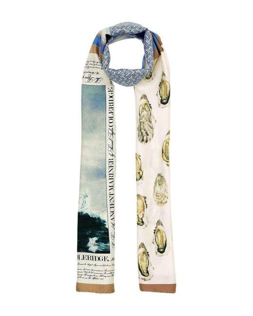 Burberry モノグラム シルクスカーフ Multicolor