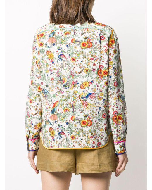 Рубашка Promised Land С Цветочным Принтом Tory Burch, цвет: White