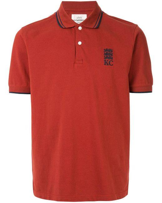 メンズ Kent & Curwen ロゴエンブロイダリー ポロシャツ Red