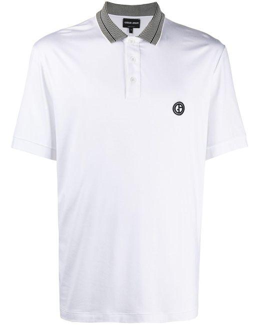 メンズ Giorgio Armani ロゴ ポロシャツ White