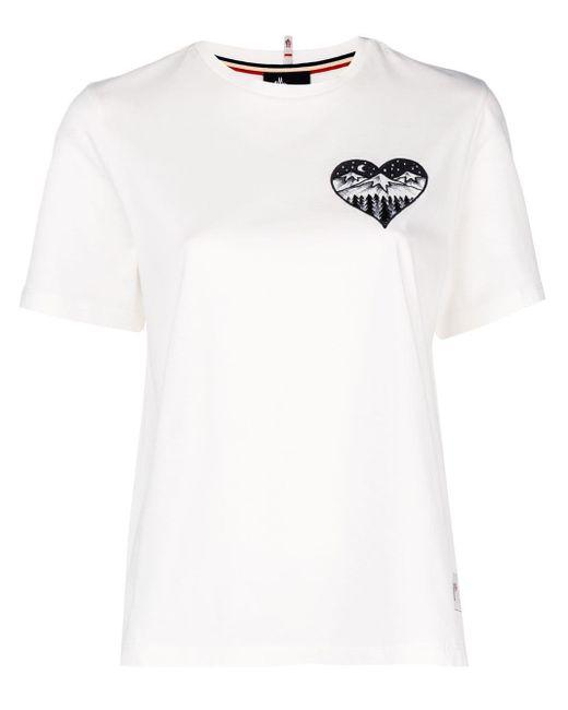 3 MONCLER GRENOBLE Camiseta con estampado en el pecho de mujer de color blanco oWCXL