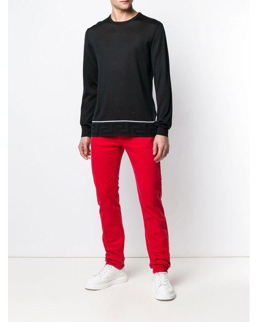 メンズ Versace クルーネック セーター Blue