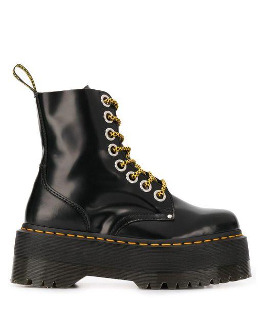 Ботинки На Платформе И Шнуровке Dr. Martens, цвет: Black