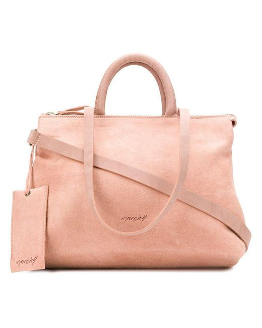 Marsèll - Pink Double Top Handle Tote - Lyst