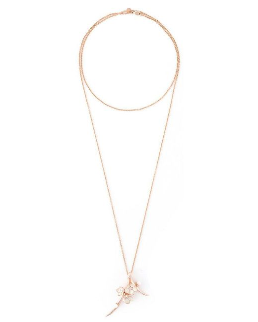Shaun Leane - Metallic 'cherry Blossom' Long Pendant Necklace - Lyst