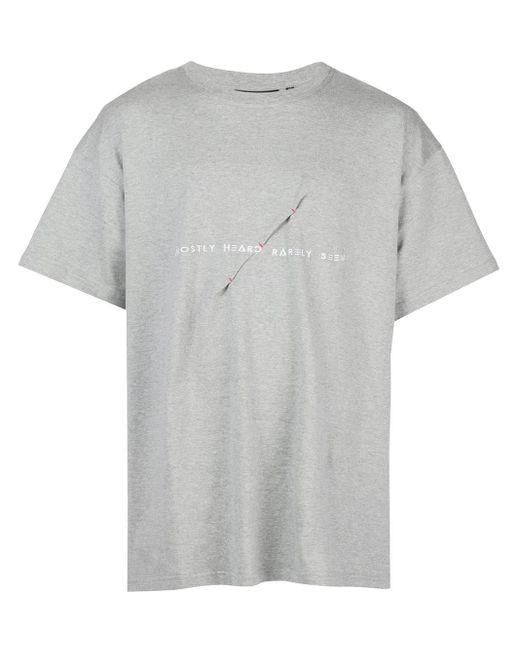 メンズ Mostly Heard Rarely Seen ロゴ Tシャツ Gray