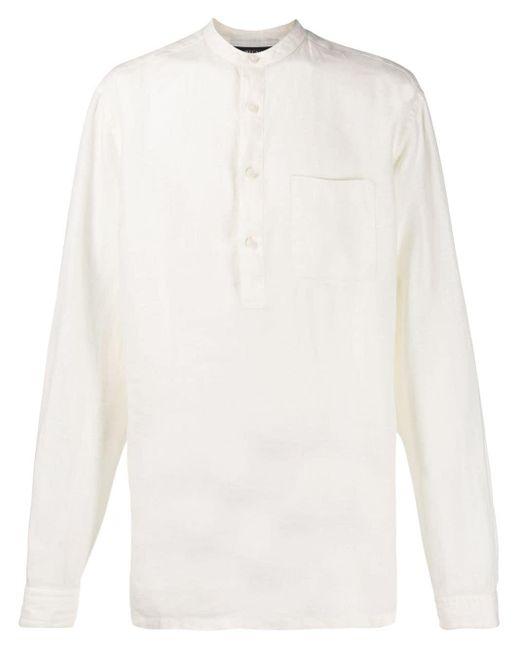 メンズ Z Zegna ボタン シャツ White