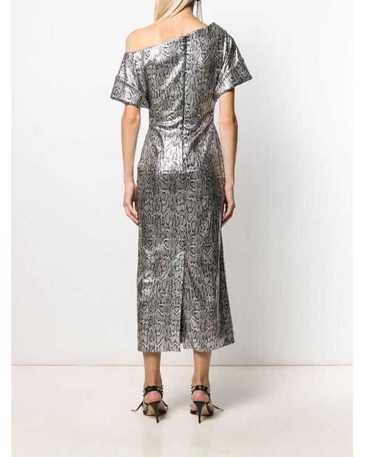 Christopher Kane スパンコール スネークプリント ドレス Metallic