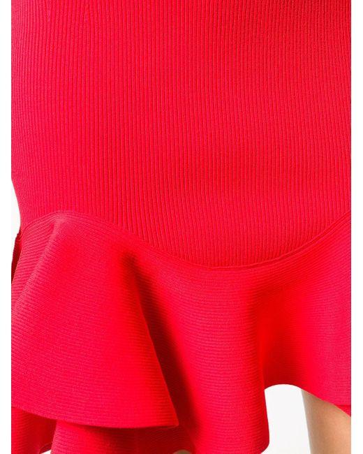 Платье С Оборками Alexander McQueen, цвет: Red