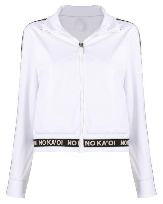 No Ka 'oi White Logo-tape Track Jacket