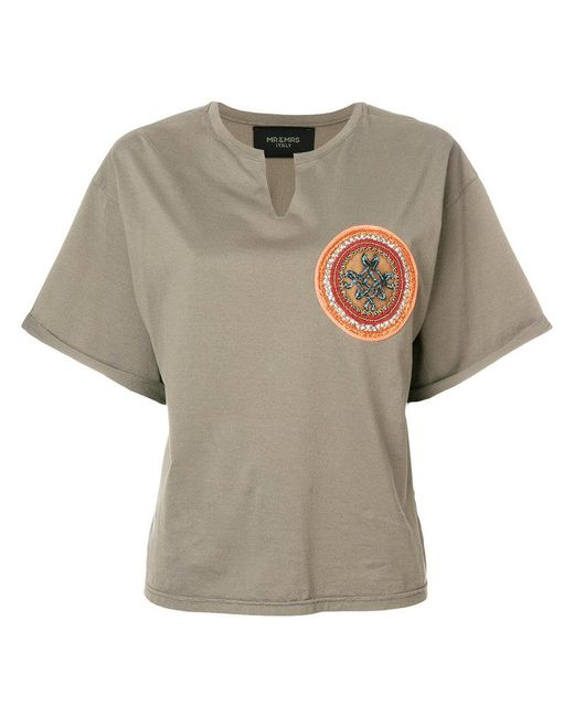 Mr & Mrs Italy - Green Beaded Patch T-shirt - Lyst