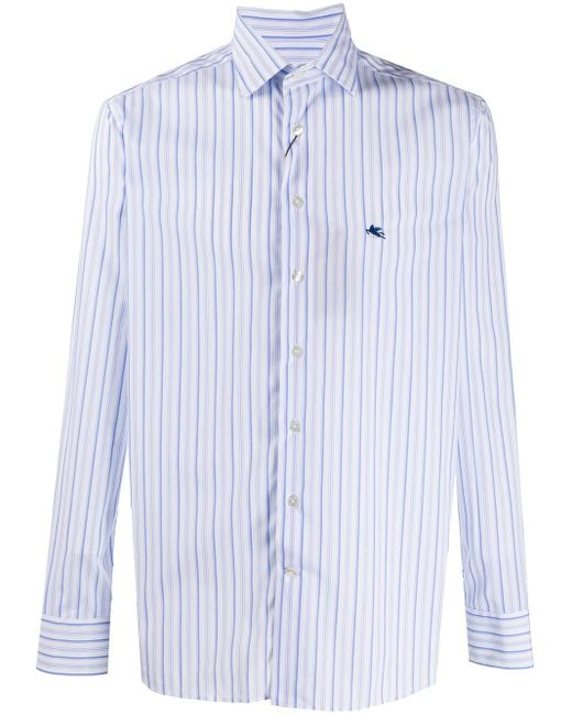 Полосатая Рубашка Etro для него, цвет: White