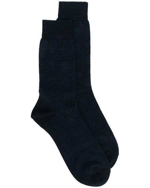 Alexander McQueen - Black Skull Knitted Socks for Men - Lyst