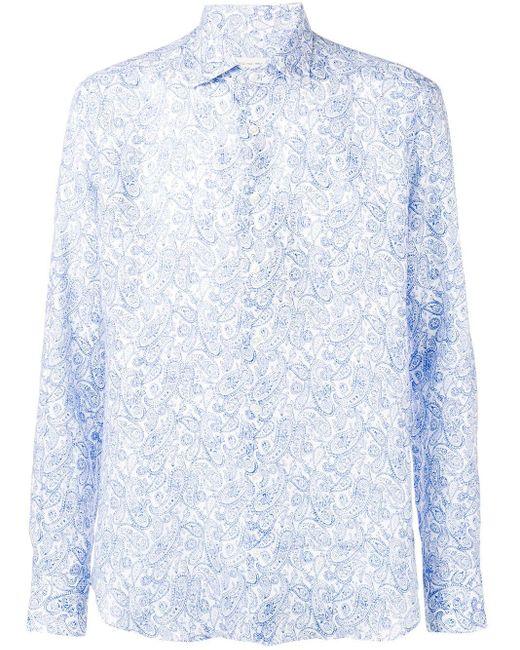 メンズ Etro ペイズリー シャツ Blue