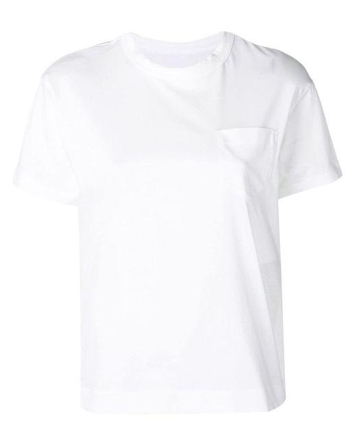 Sacai サイドジップ Tシャツ White